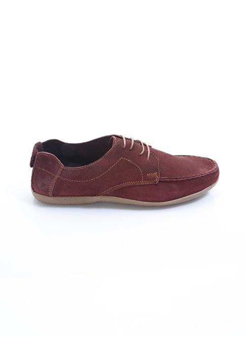 Italian Shoes %100 Deri Casual Ayakkabı Bordo
